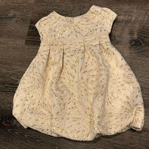 BABY GAP Gold + Cream Dress